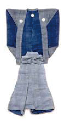 Old ceremonial samurai dress with the clan crest